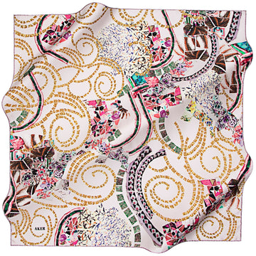 Aker : Mythology Story Fashion Silk Scarf for Women Aker,Silk Scarves Aker