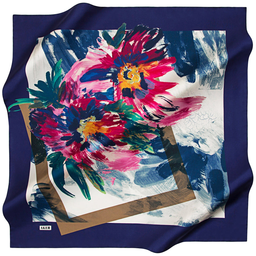 Aker : Picture Perfect Turkish Silk Scarf Aker,Silk Scarves Aker
