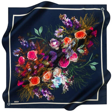 Aker :  A Bountiful of Happiness Designer Silk Scarf