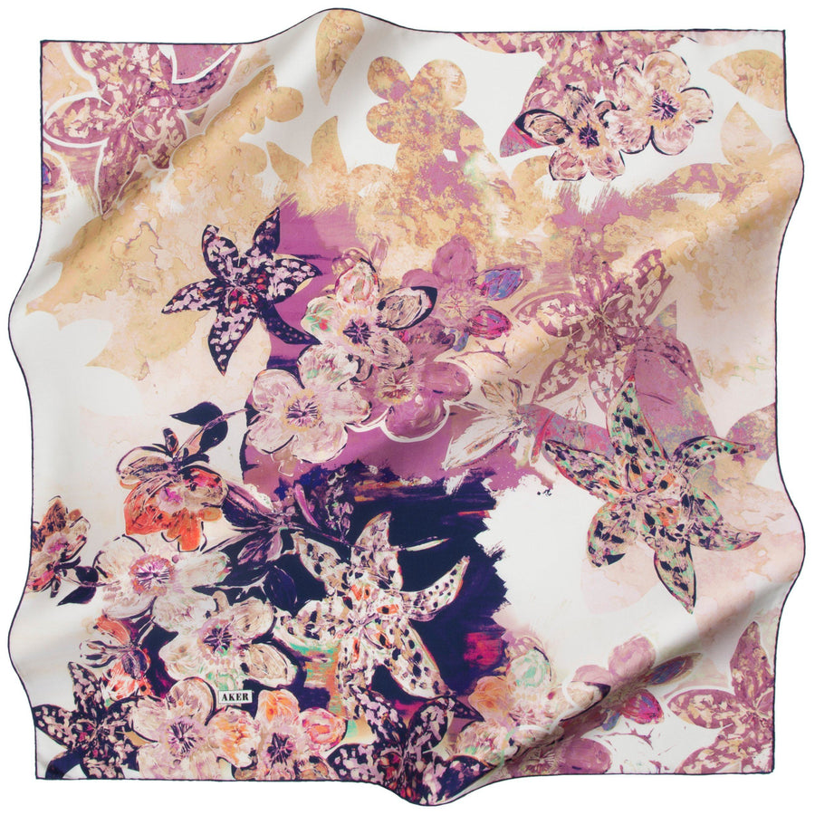 Aker : Dainty as a Princess Pink Silk Scarf for Women Aker,Silk Scarves Aker