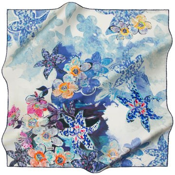 Aker : Dainty as a Princess Baby Blue Fashion Silk Scarf Aker,Silk Scarves Aker