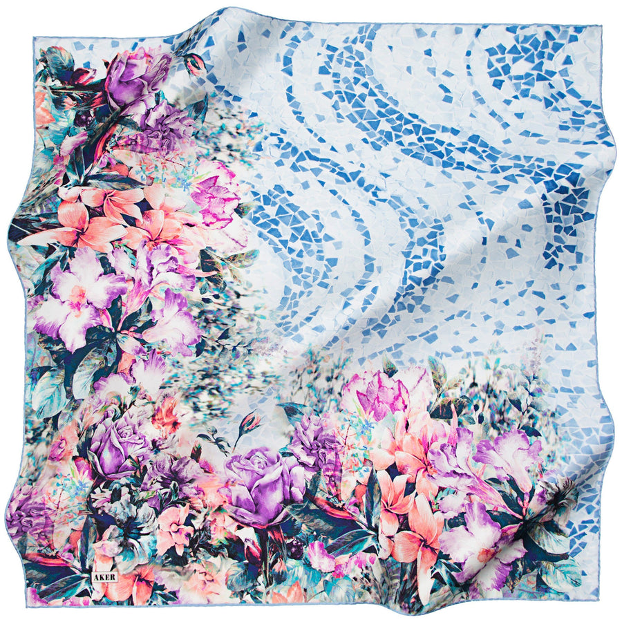 Aker : Adilah Beautiful Silk Twill Scarf from Turkey