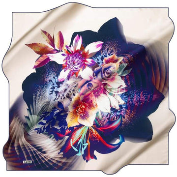 Aker : Ethereal Dream Turkish Silk Scarf - Purple Aker,Silk Scarves Aker