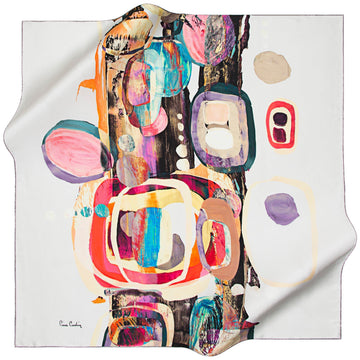 Pierre Cardin : Bologna Trendy Silk Scarf from Turkey Pierre Cardin,Silk Scarves Pierre Cardin
