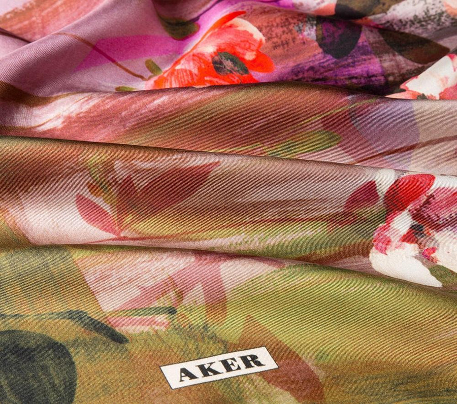 Aker : Best Tapestry Pretty Silk Hijab for Women Aker,Silk Scarves Aker