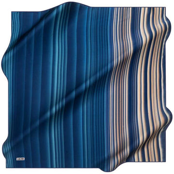 Aker :  Ombre Ombra Pure Silk Scarf - Blue