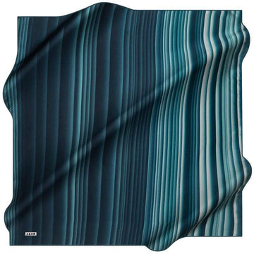 Aker :  Ombre Ombra Pure Silk Scarf - Marine
