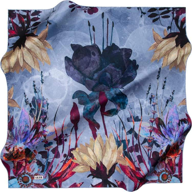 Aker : New Fall Scarf from Turkey - Fantasy Blue