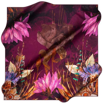 Aker : New Fall Scarf from Turkey - Maroon Aker,Silk Scarves Aker