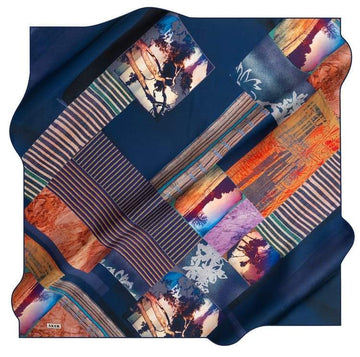 Aker : A Modern Interpretation Designer Silk Scarf