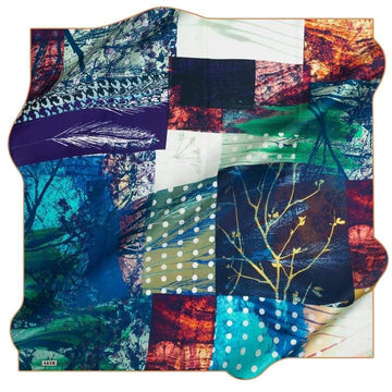Aker : A Essence of Fall Turkish Silk Scarf Aker,Silk Scarves Aker