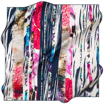 Aker : A Picturesque Collage Turkish Silk Scarf Aker,Silk Scarves Aker