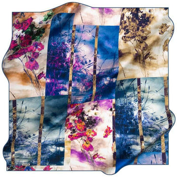 Aker : A Picture of Autumn Turkish Silk Hijab Aker,Silk Scarves Aker