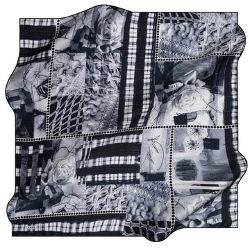 Aker : A Scrapbooker Delight Luxury Silk Scarf Aker,Silk Scarves Aker