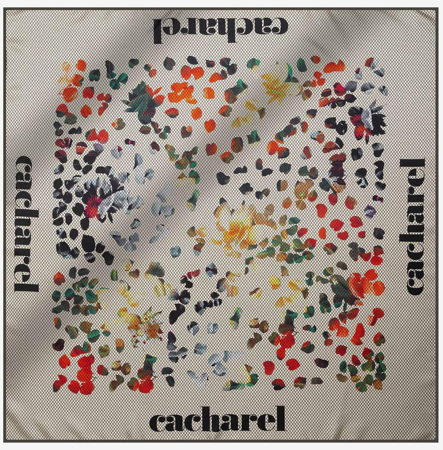 Cacharel Wisteria Pure Silk Scarf No. 11 Silk Scarves Cacharel