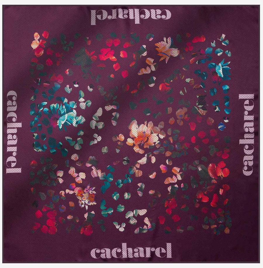 Cacharel Wisteria Pure Silk Scarf No. 94 Silk Scarves Cacharel