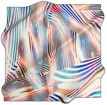 Aker Luxury Striped Silk Wrap Kinrara No. 21 Silk Hijabs,Aker,Silk Scarves Aker