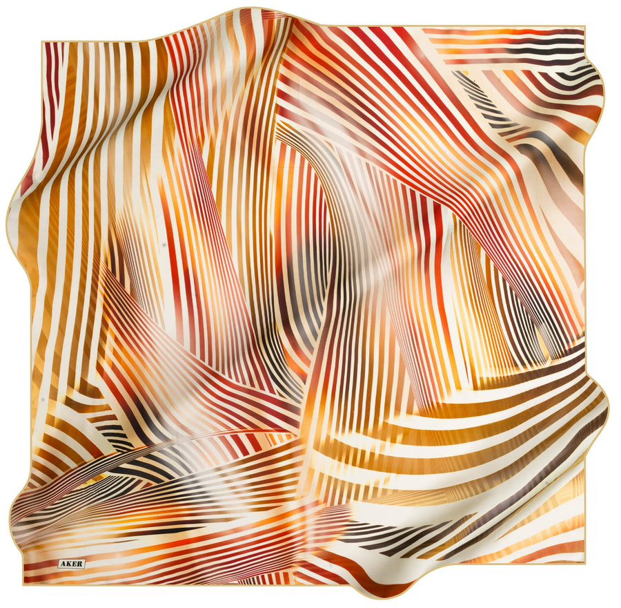 Aker Luxury Striped Silk Wrap Kinrara No. 61 Silk Hijabs,Aker,Silk Scarves Aker