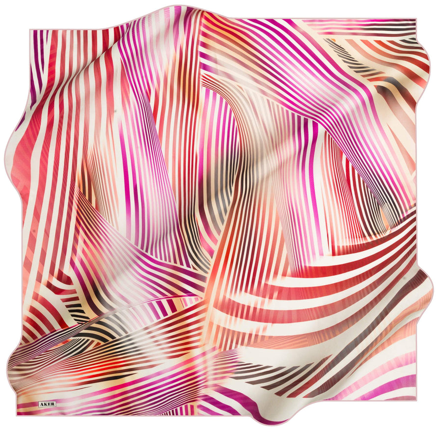 Aker Luxury Striped Silk Wrap Kinrara No. 91 Silk Hijabs,Aker,Silk Scarves Aker