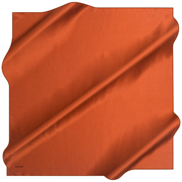 Aker Basic Grinded Silk Crepe Satin Scarf - Sorbus Orange Aker,Silk Scarves Aker
