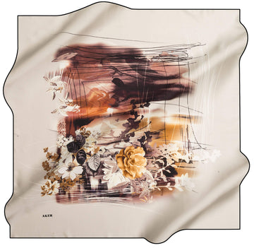 Aker Philippa Turkish Silk Scarves No. 14 Silk Hijabs,Aker,Silk Scarves Aker