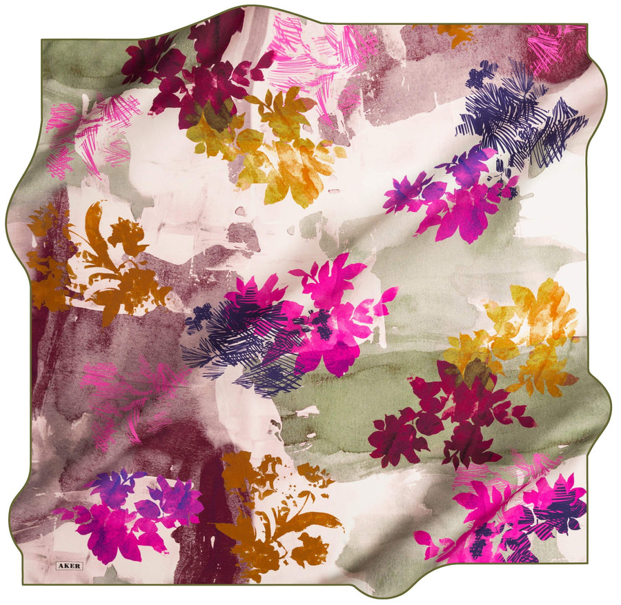 Aker Allegra Turkish Silk Scarf No 51 Silk Hijabs,Aker,Silk Scarves Aker