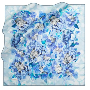 Cacharel Hydrangea Bloom Silk Scarf No. 22 Silk Scarves Cacharel