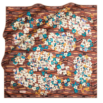 Cacharel Veronika Silk Twill Scarf No. 92 Silk Scarves Cacharel