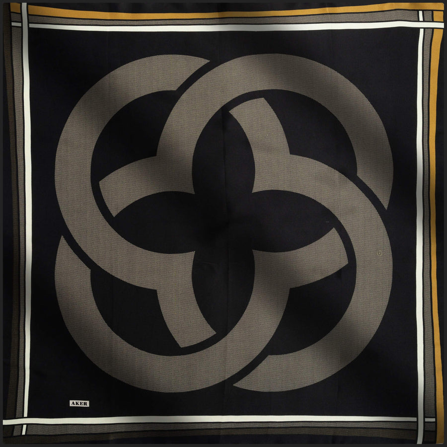 Aker Signature Turkish Silk Scarf No. 11 Silk Hijabs,Aker,Silk Scarves Aker
