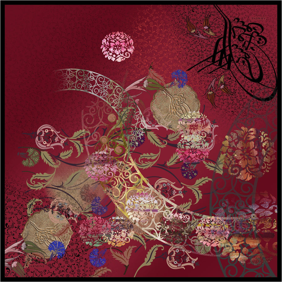 Armine Ali Premium Silk Scarf from Turkey