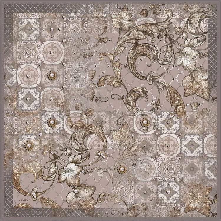 Armine :  A Unique Designer Silk Scarf from Turkey