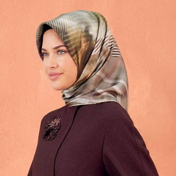 Armine :  A Scarf with Subtle Elegance Turkish Silk Hijab