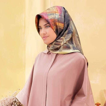 Armine :  A Beautiful Night in The City Silk Hijab Scarf