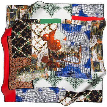 Aker A Mama's Warm Kitchen - Red Aker,Silk Scarves Aker