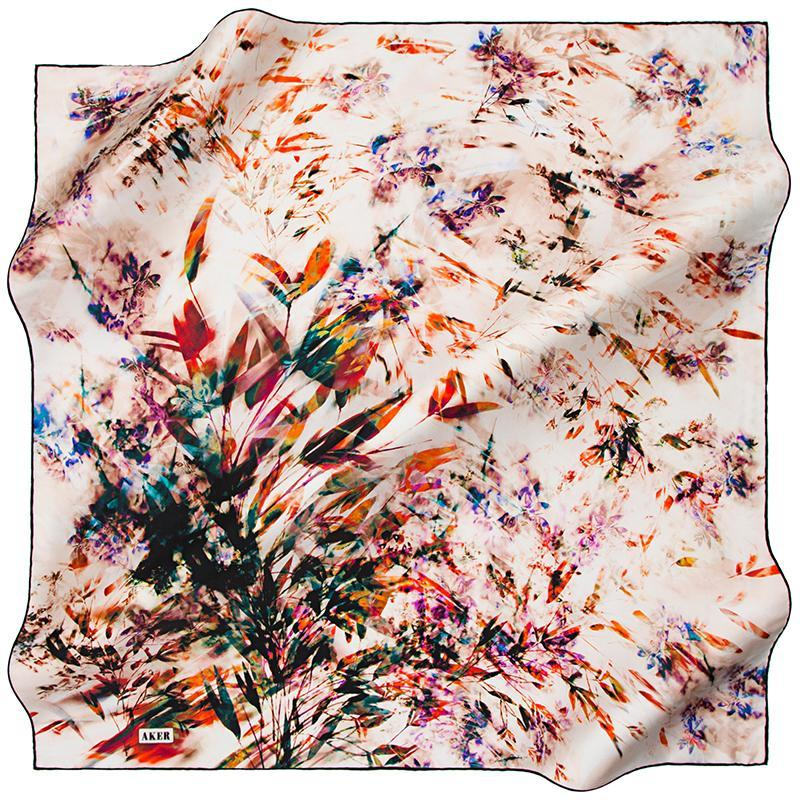 Aker A Rhapsody For You and Me Silk Twill Scarf Aker,Silk Scarves Aker