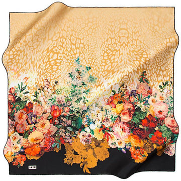 Aker A Glorious Autumn Garden - Gold Aker,Silk Scarves Aker