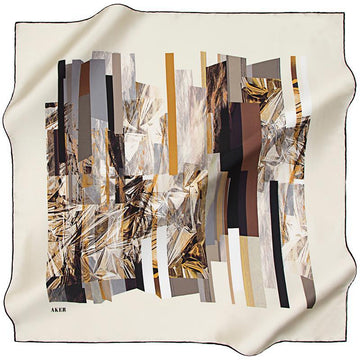 Aker A Reflection of the Past, Present, Future - Ivory Aker,Silk Scarves Aker