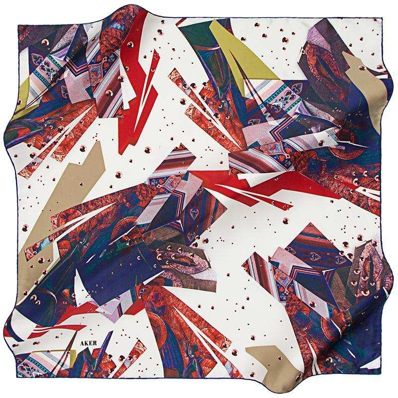 Aker A Glorious Time Space Silk Scarf - Britain