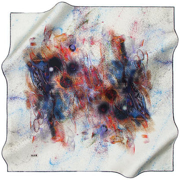 Aker Life is Full of Surprises - Dusty Blue Aker,Silk Scarves Aker