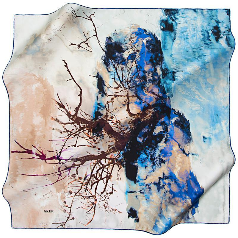 Aker Between The Sea and Sky - Oceanus Aker,Silk Scarves Aker