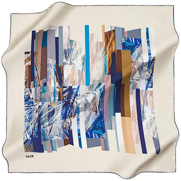 Aker A Reflection of the Past, Present, Future - Cream Aker,Silk Scarves Aker