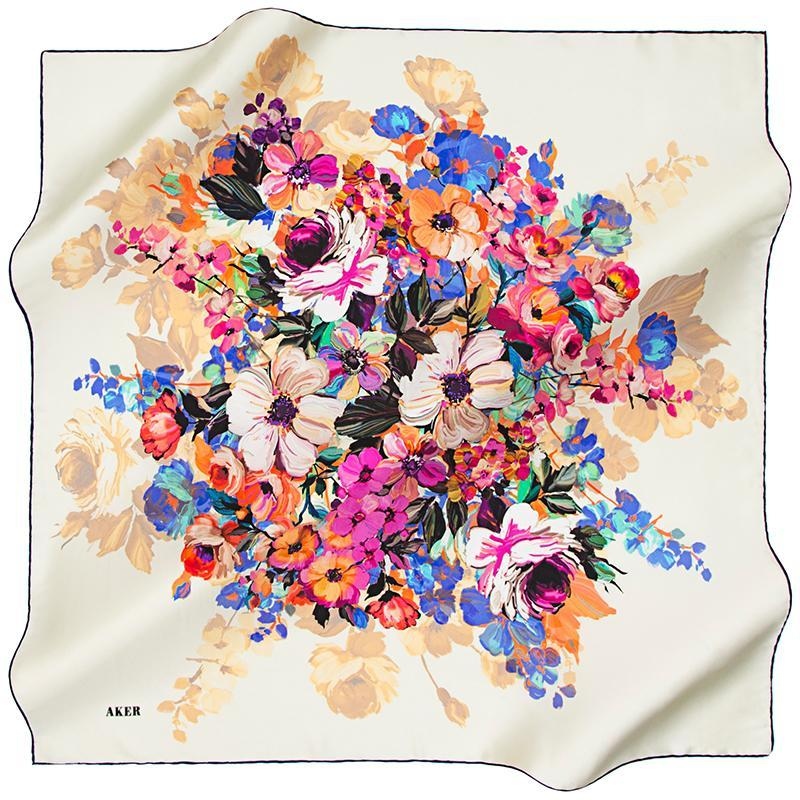 Aker A Wealth of Luck Silk Scarf for Women Aker,Silk Scarves Aker