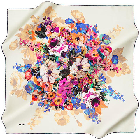Aker A Wealth of Luck Silk Scarf for Jewish Women