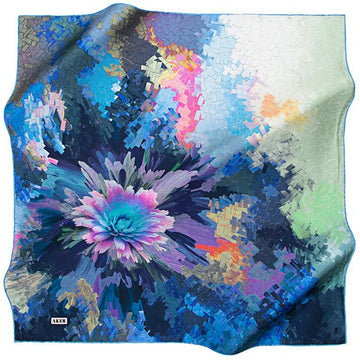 Aker Beautiful Flower Mosaic - Oceanus Aker,Silk Scarves Aker