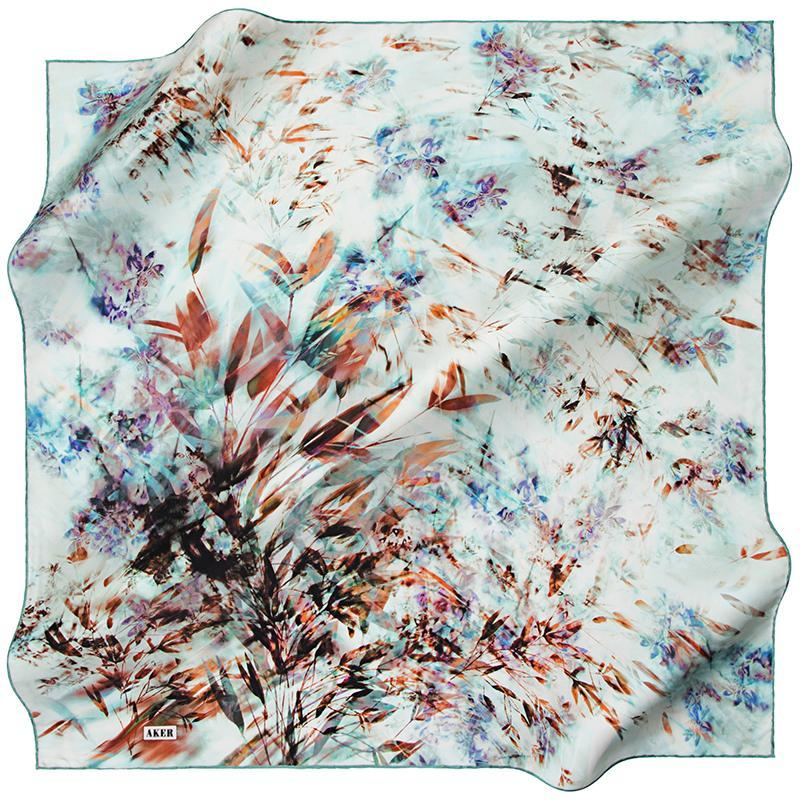 Aker A Rhapsody For You and Me Silk Scarf - Dawn