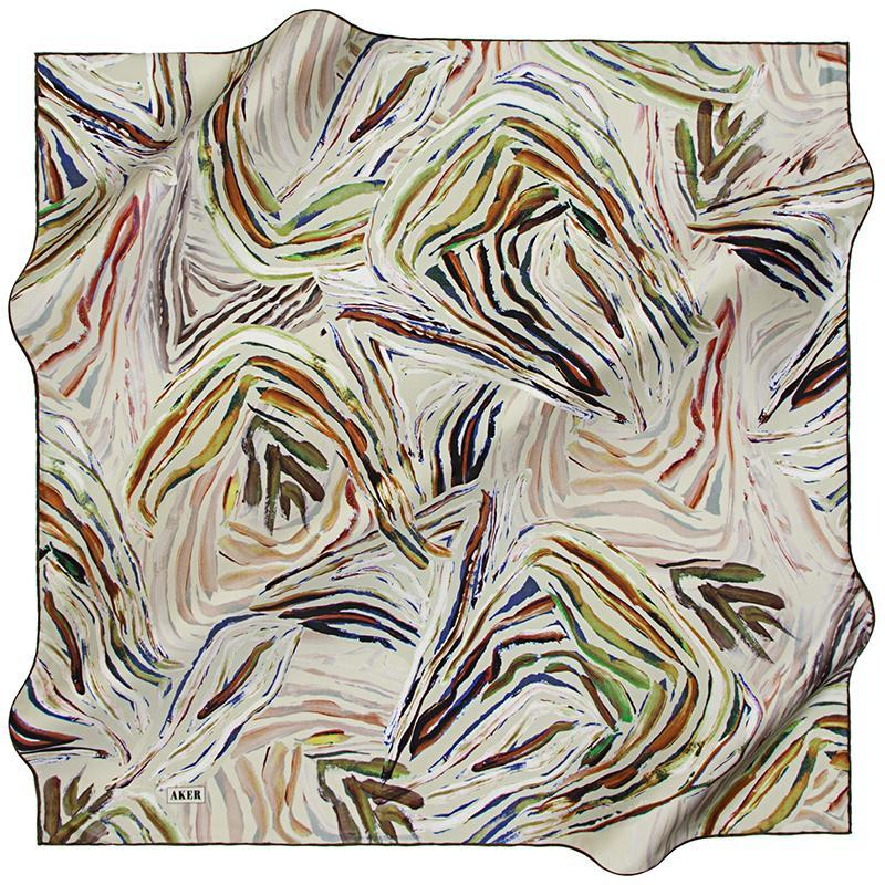 Aker An Oceanic Dream Silk Scarf - Fresh