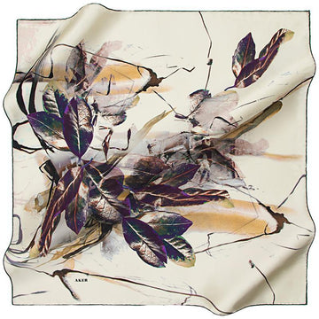 Aker Autumn Leaves - Bronze Beauty Aker,Silk Scarves Aker