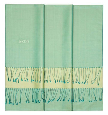 Aker Bi-Color Ladies Long Silk Scarf - Chinook Silk Shawls Aker