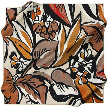 Aker A Psychedelic Rainforest Silk Twill Scarf - Coco Aker,Silk Scarves Aker