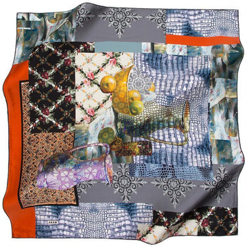Aker A Mama's Warm Kitchen - Orange Aker,Silk Scarves Aker